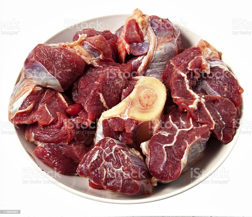 red raw meat royalty-free stock photo