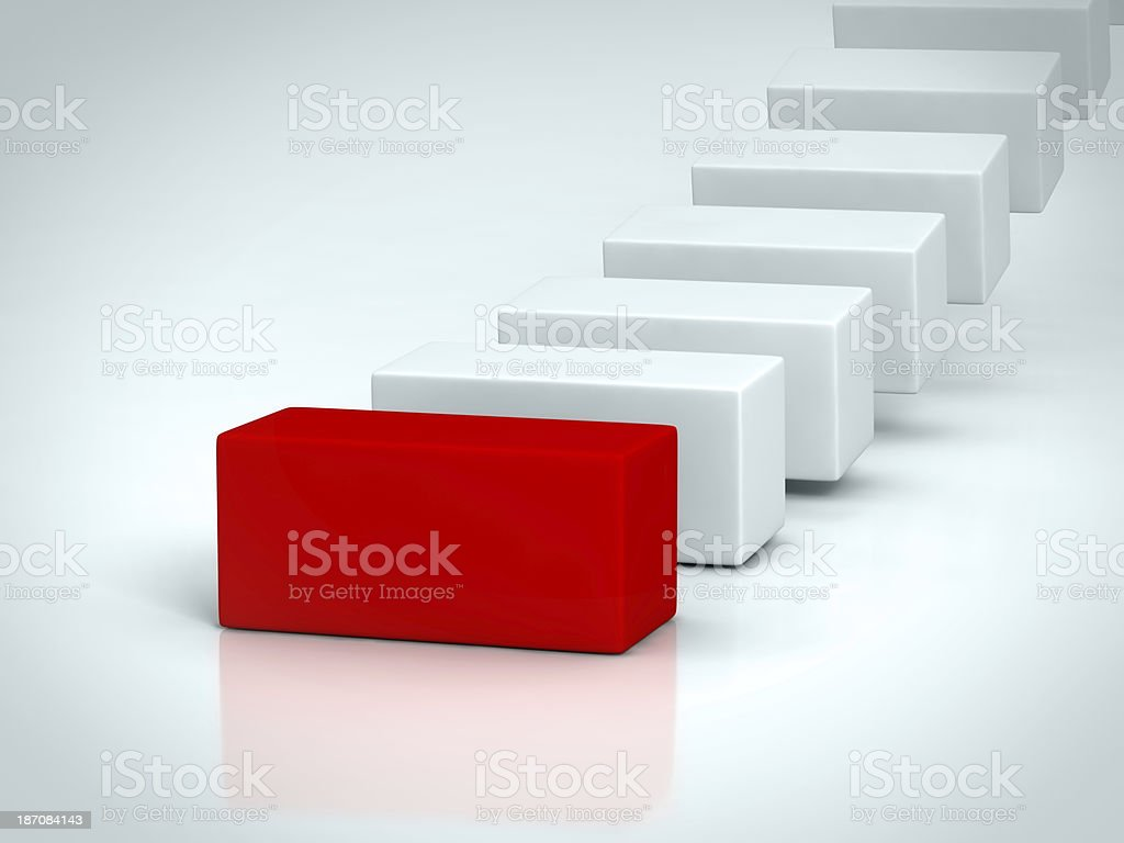 red rectangle stock photo
