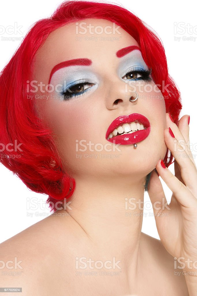 Red redhead royalty-free stock photo