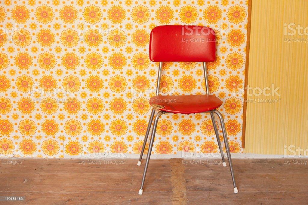 Rot-retro-Sessel – Foto