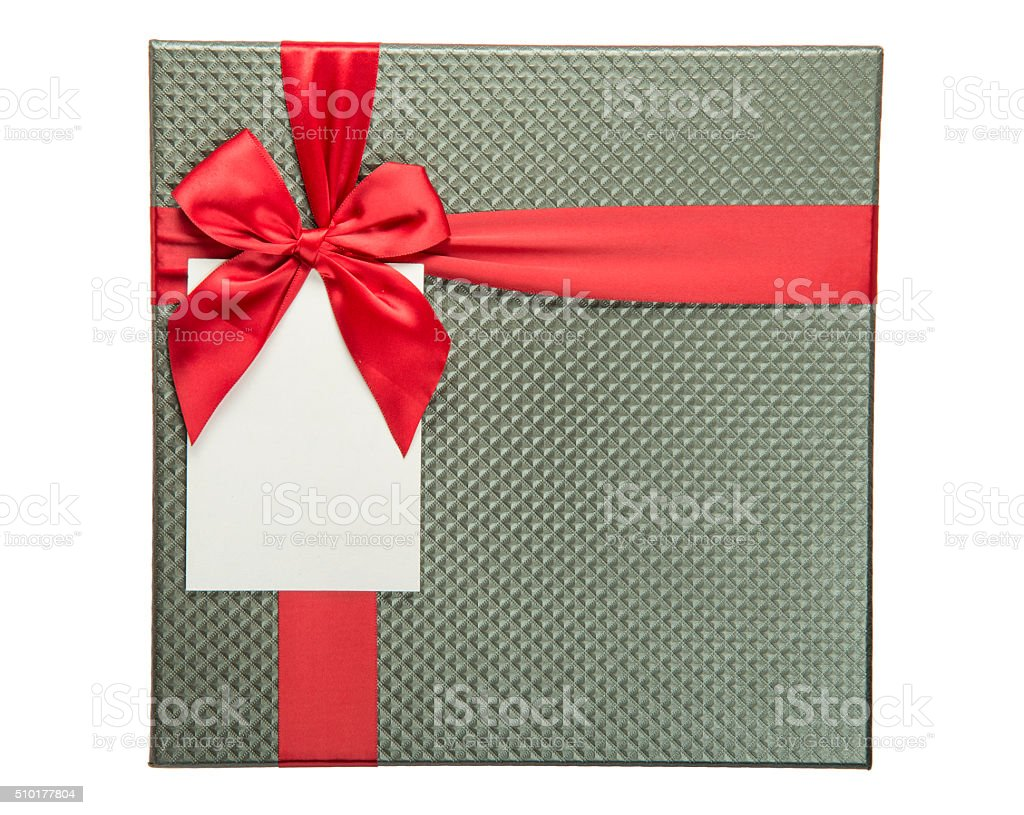 Red Ribbon And Blank Greeting Card Stock Photo More Pictures Of