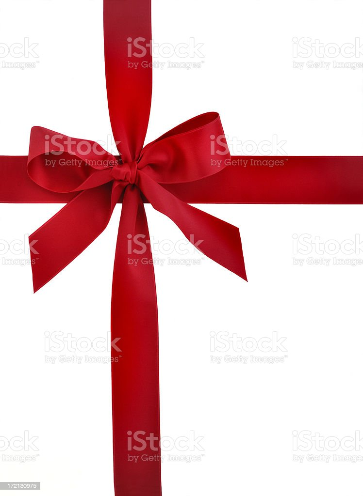 red ribbon and bow royalty-free stock photo