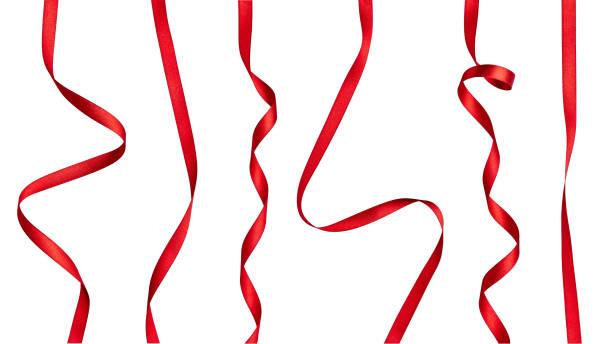 red ribbon bow celebration decoration - ribbon стоковые фото и изображения