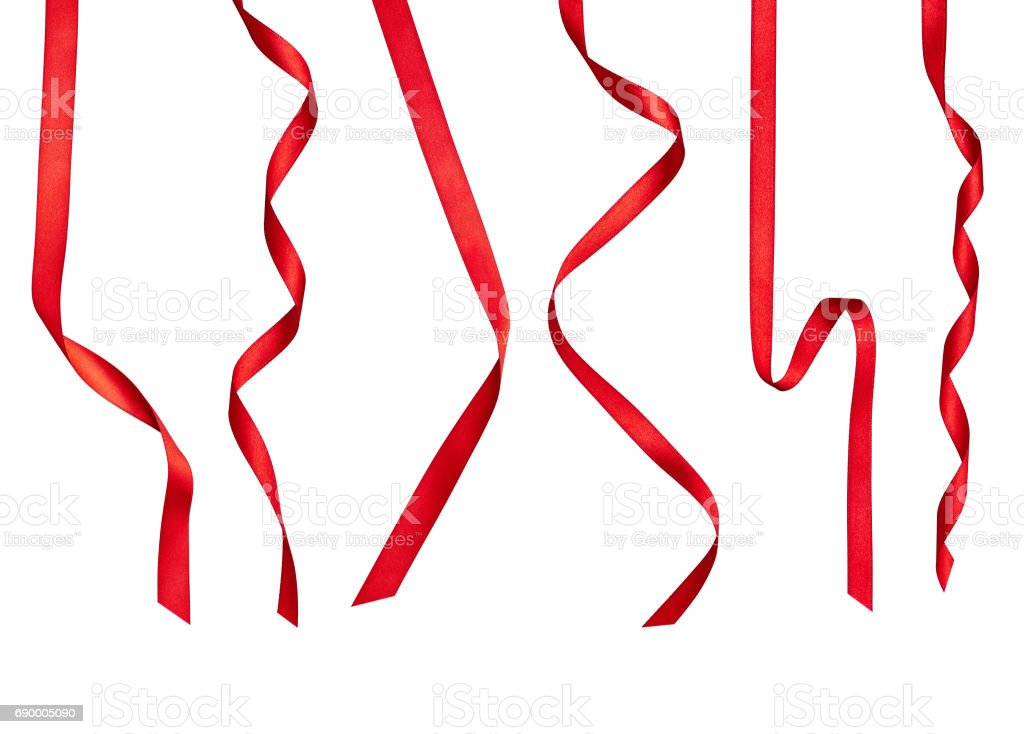 red ribbon bow celebration decoration stock photo
