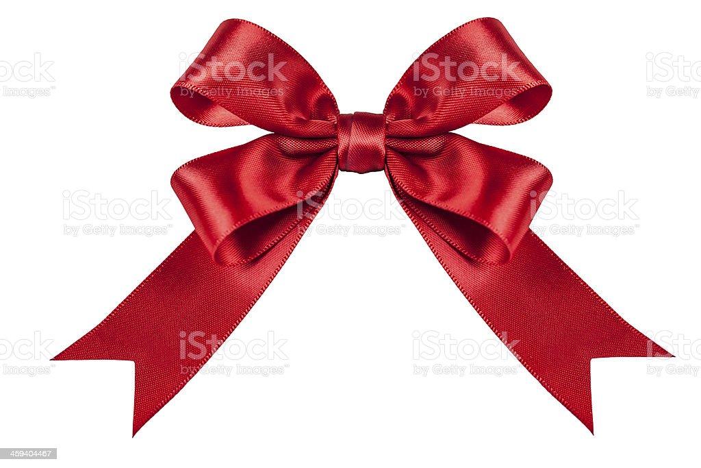 Red Ribbon Bow stock photo