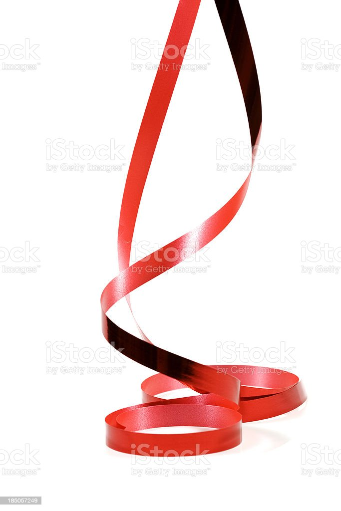 red ribbon hanging  down royalty-free stock photo