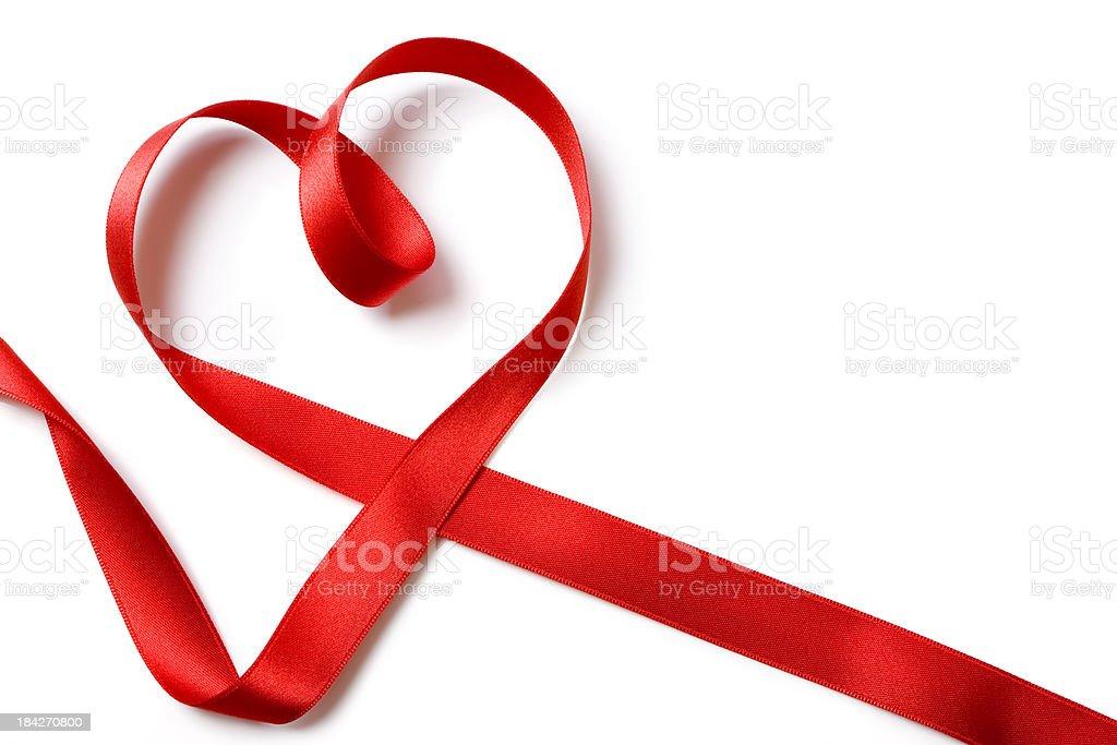 Red ribbon heart royalty-free stock photo