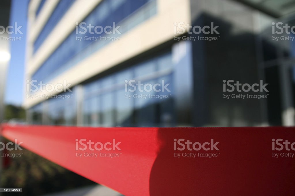 Red Ribbon in front of Building royalty-free stock photo