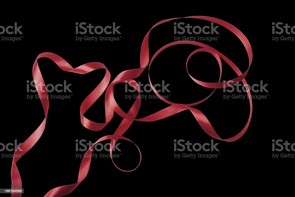 Red ribbon isolated stock photo