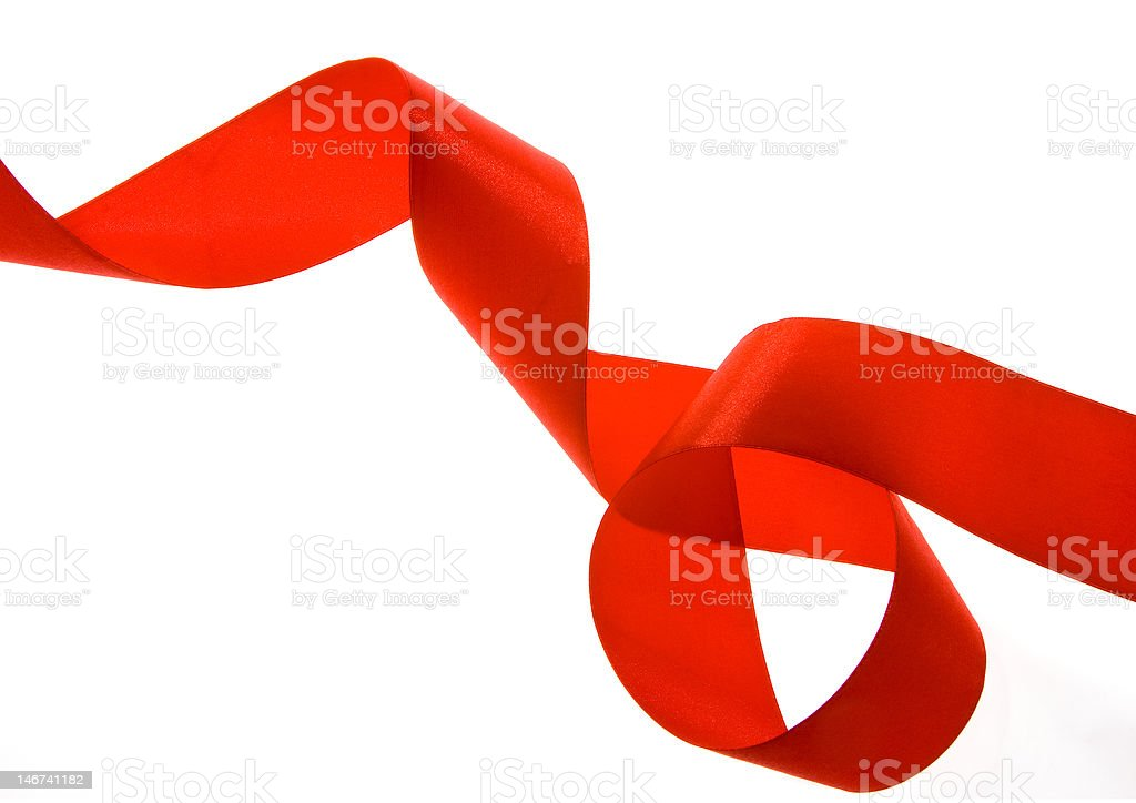 red ribbon royalty-free stock photo