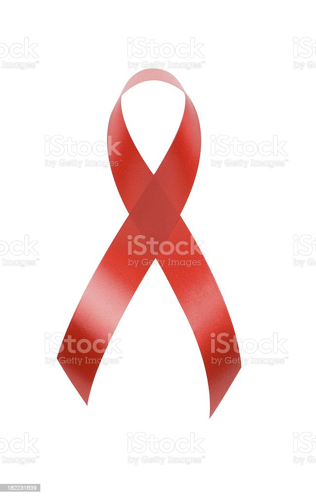 AIDS red ribbon royalty-free stock photo