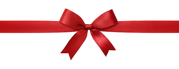 red ribbon - ribbon sewing item stock photos and pictures