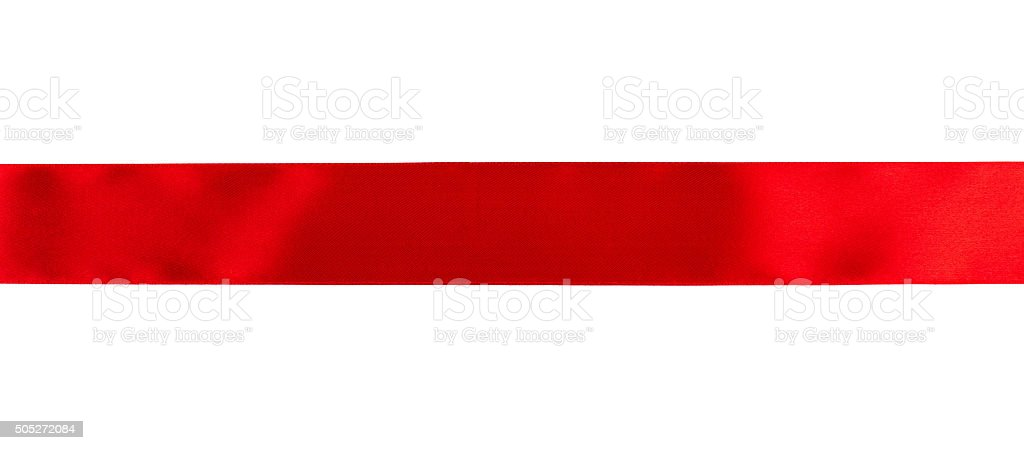 Red ribbon Red ribbon isolated over white background Anniversary Stock Photo