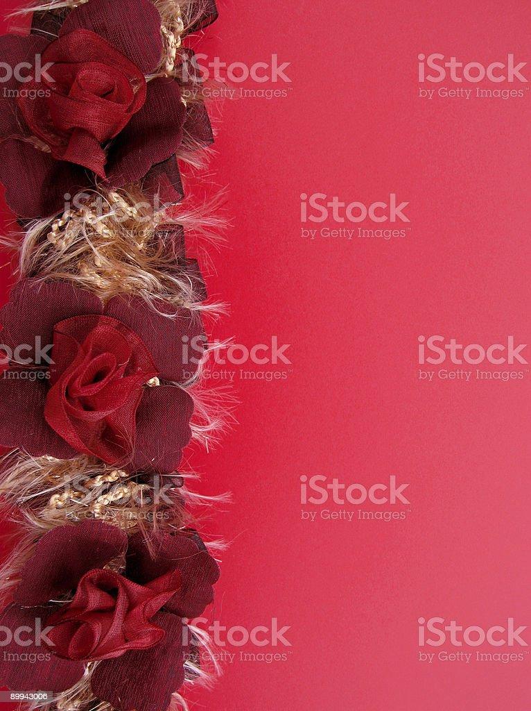 red ribbon rose border royalty-free stock photo