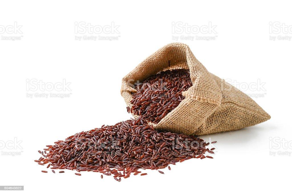 red rice stock photo