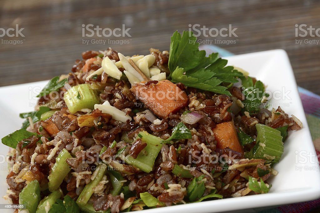 Red Rice Salad stock photo