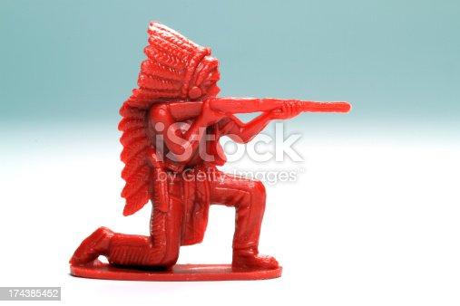 istock Red Rifle Man 174385452