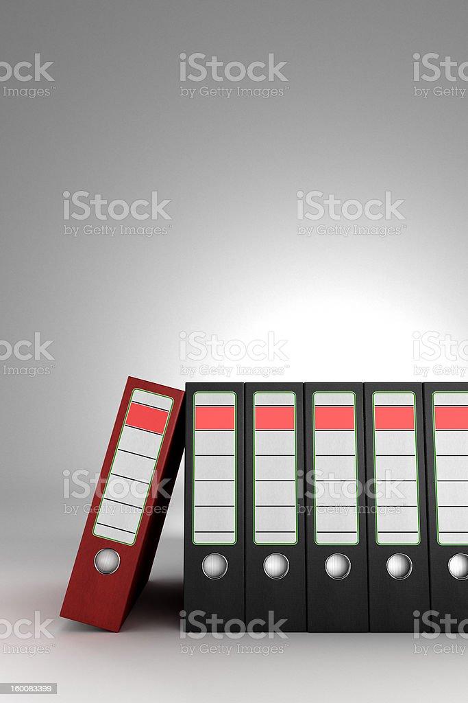 Red ring binder royalty-free stock photo