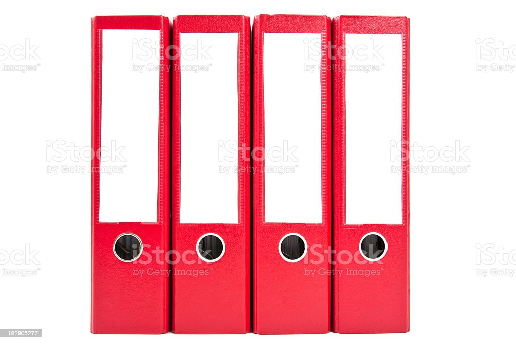 red ring binders royalty-free stock photo