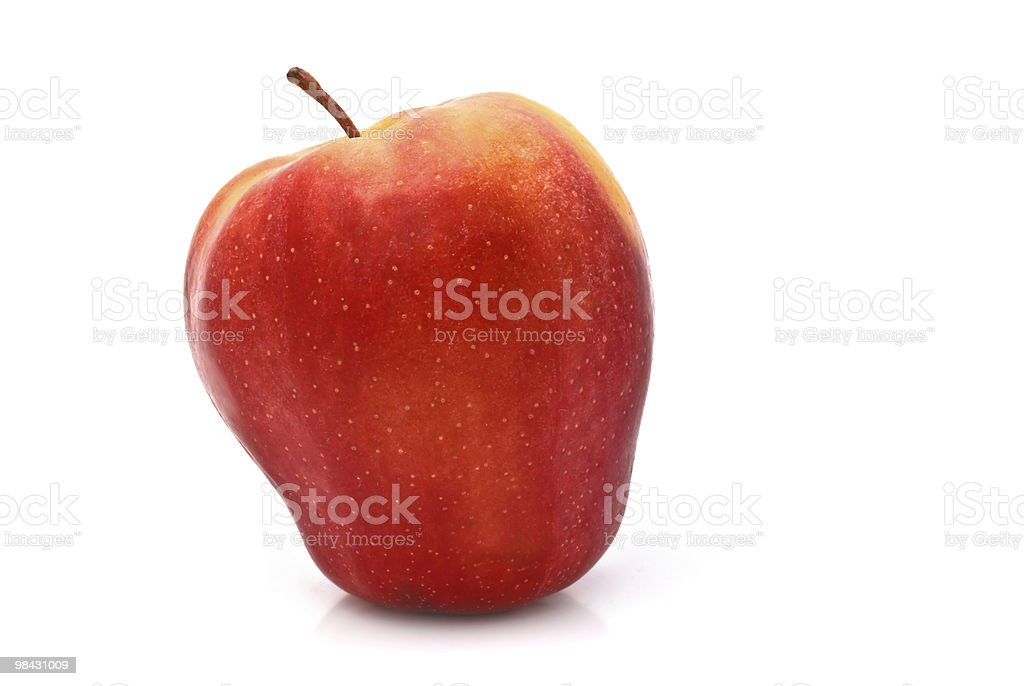 Red ripe apple on a white background royalty-free stock photo