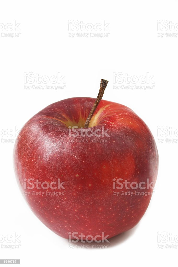 Red ripe apple royalty-free stock photo