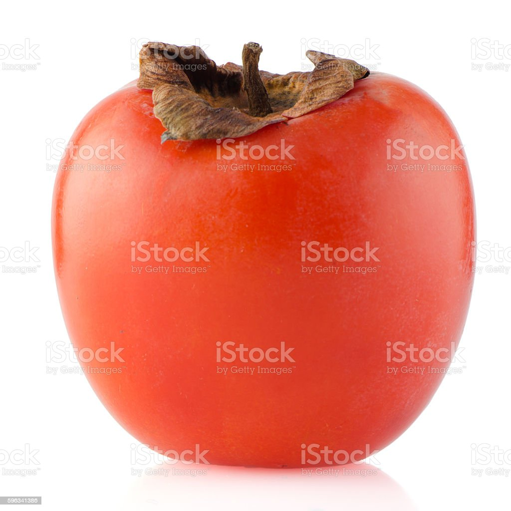 Red ripe persimmon royalty-free stock photo