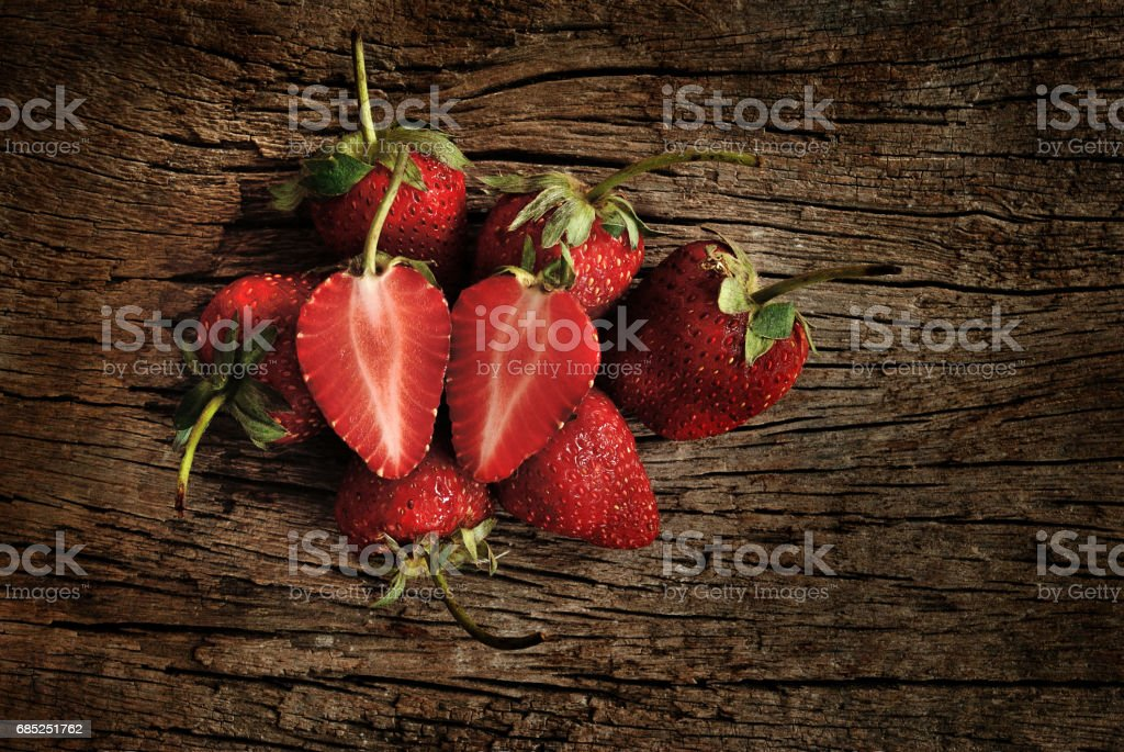red ripe strawberries royalty-free stock photo