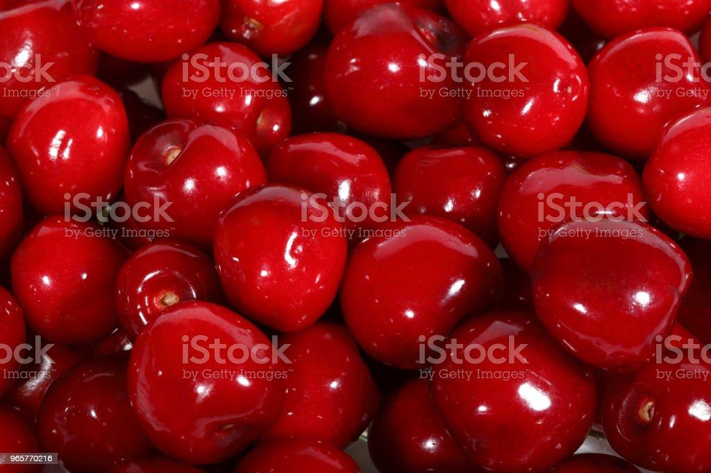 Red ripe sweet cherries close-up - Royalty-free Abundance Stock Photo