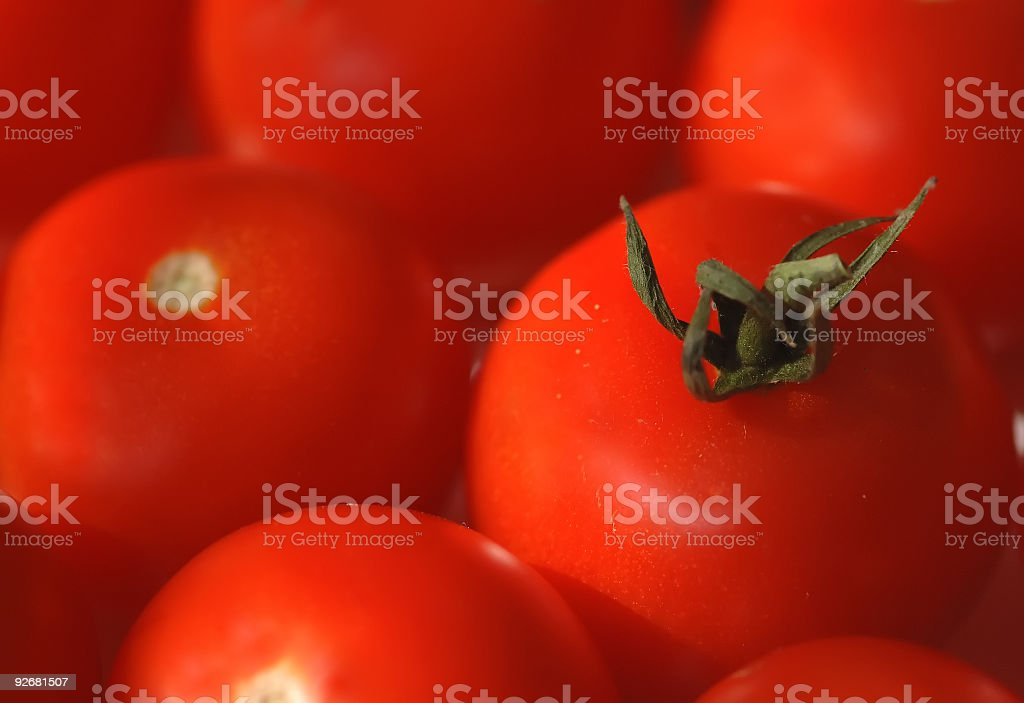 Red ripe tomato - macro royalty-free stock photo