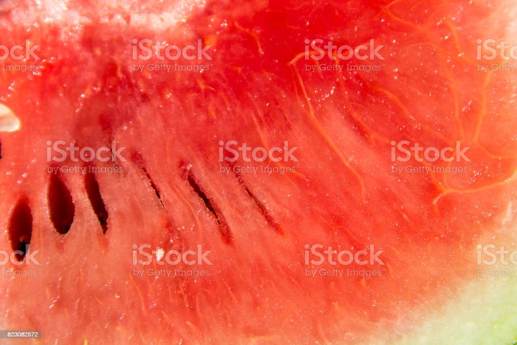 Red ripe watermelon fruit texture for background stock photo