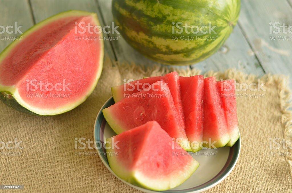 Red Ripe Watermelon Healthy Snack stock photo