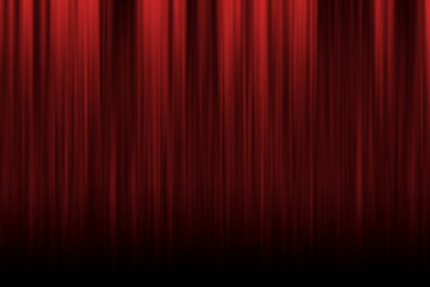 red rising curtain - circus background stock photos and pictures