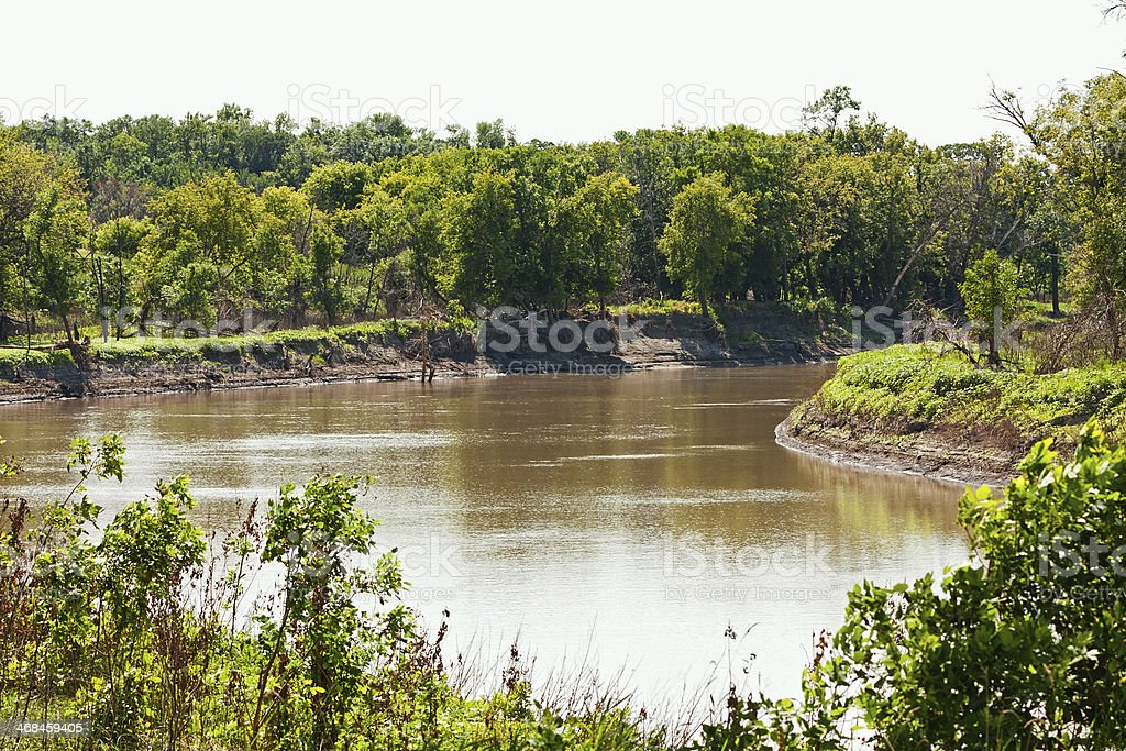 Red River stock photo