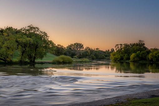 Red River Sunrise