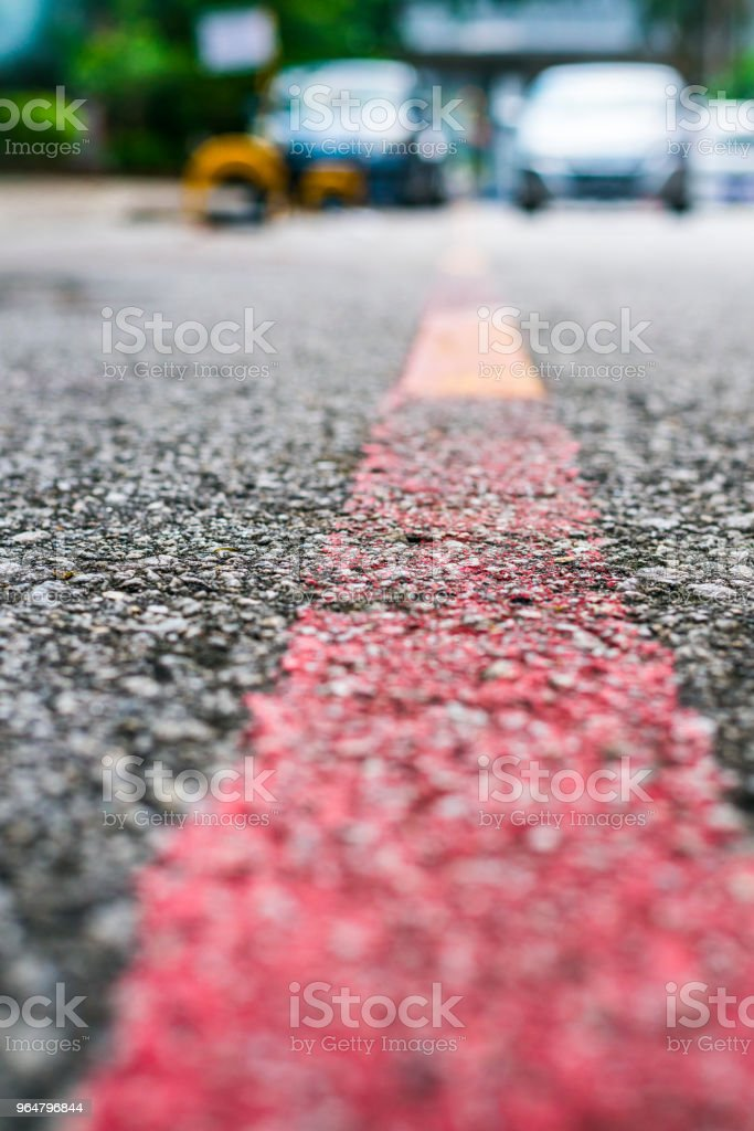 Red road line royalty-free stock photo