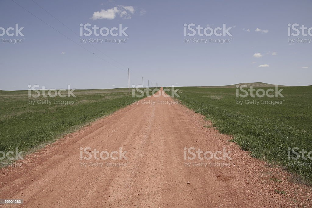 Red road royalty-free stock photo