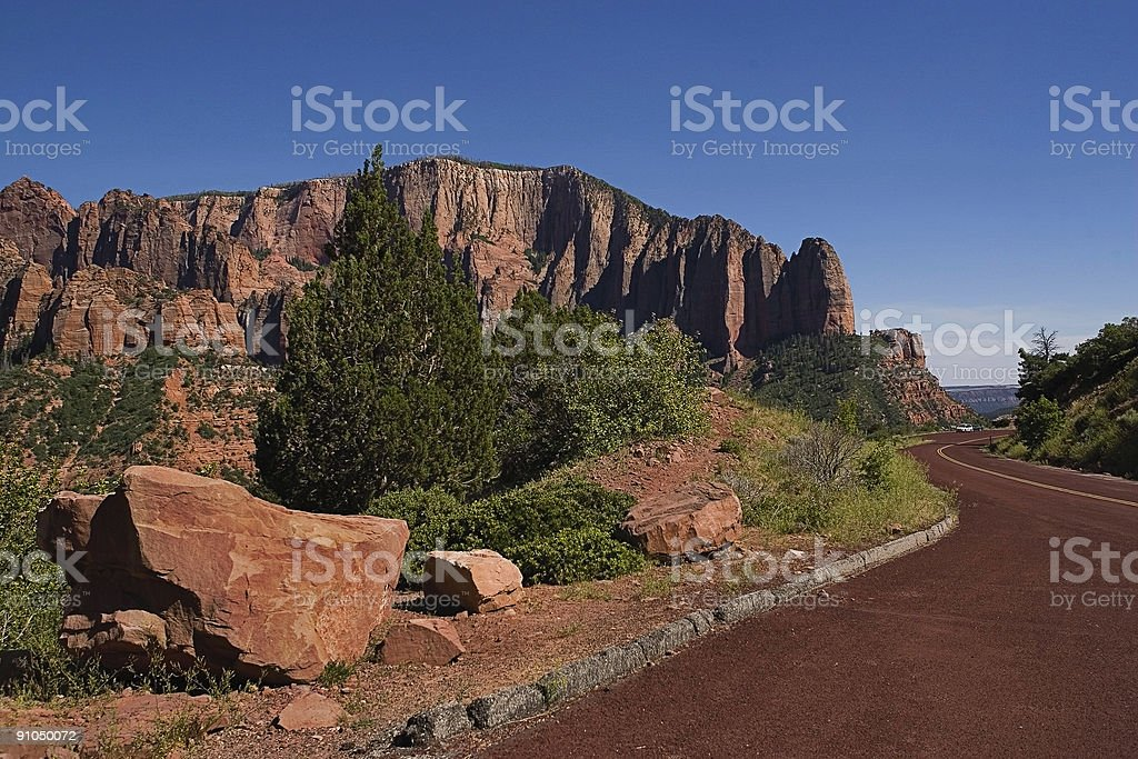 Red Road to Kolob stock photo