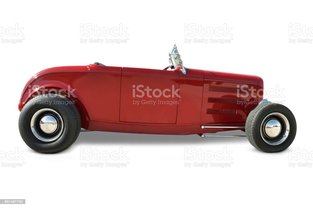 Red Roadster stock photo