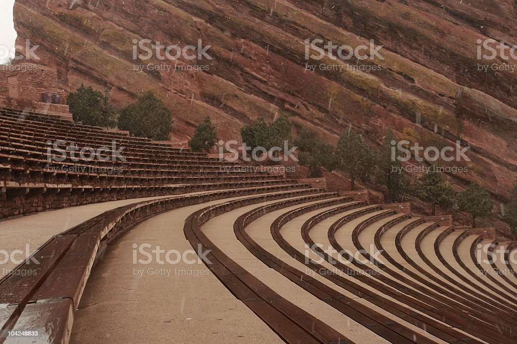 Red Rock Amphitheater royalty-free stock photo