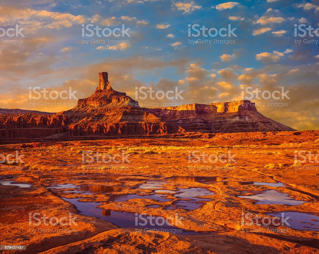 Red rock butte sunset Deadhorse Point State Park,Utah(P) stock photo