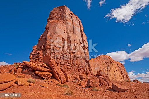 Red Rock Buttes Reaching to the Sky in Monument Valley in Arizona