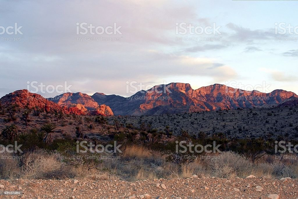 Red Rock Canyon at sunrise royalty-free stock photo