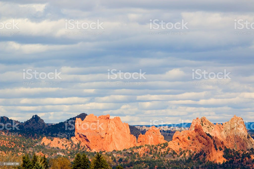 Red Rock Canyon Colorado Springs stock photo