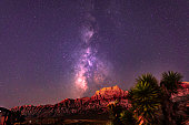 Red rock canyon milky way