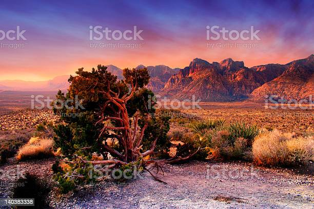Red Rock Canyon Nevada Stockfoto en meer beelden van Berg