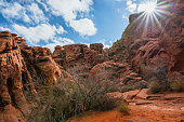 Red sandstone canyon in Nevada