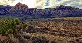 Red Rock Canyon near Las Vegas Nevada at sunset