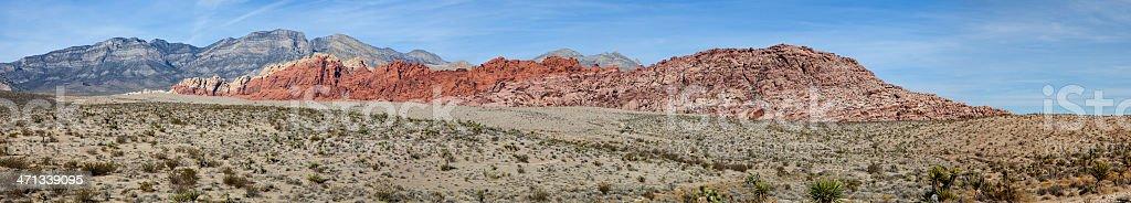 Red Rock Canyon (Panorama) royalty-free stock photo