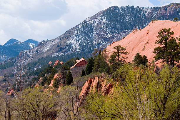 Red Rock Canyon Trail stock photo