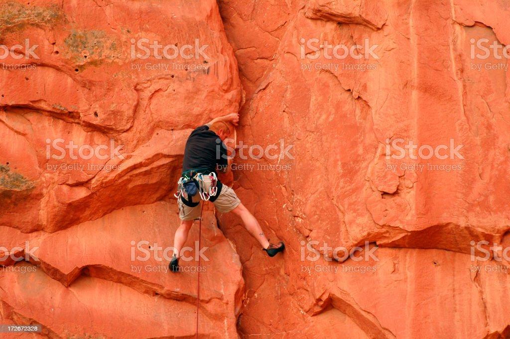 Red Rock Climbing royalty-free stock photo
